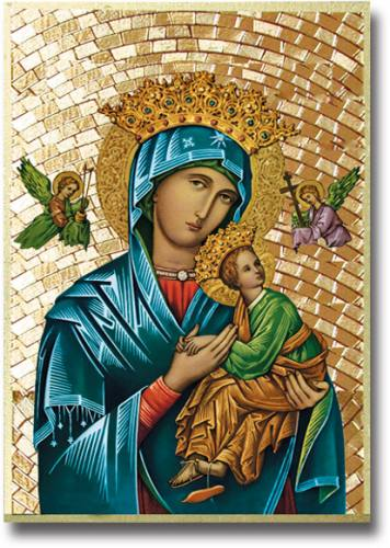 Plaque Mary Our Lady Perpetual Help 4 x 6 inch Mosaic