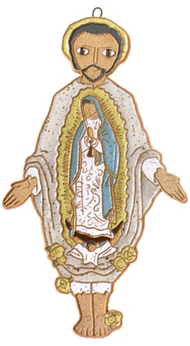 Saint Andrew's Abbey Ceramics St Juan Diego Plaque
