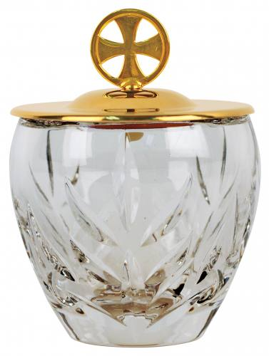 Ablution Cup Crystal 24K Gold Plate Cover 6 oz.