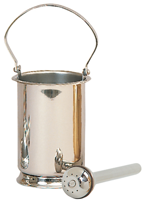 Holy Water Sprinkler & Pot Church Stainless Steel
