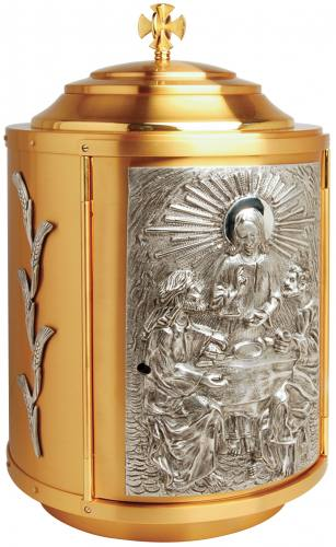 Gold Plated Tabernacle with Silver Plated Accents