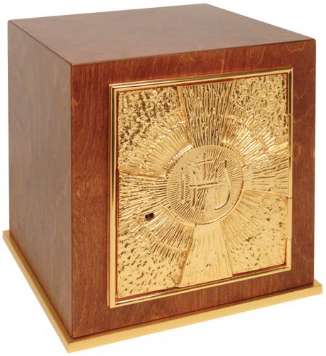 Wood Tabernacle with 24k Gold Plated Door