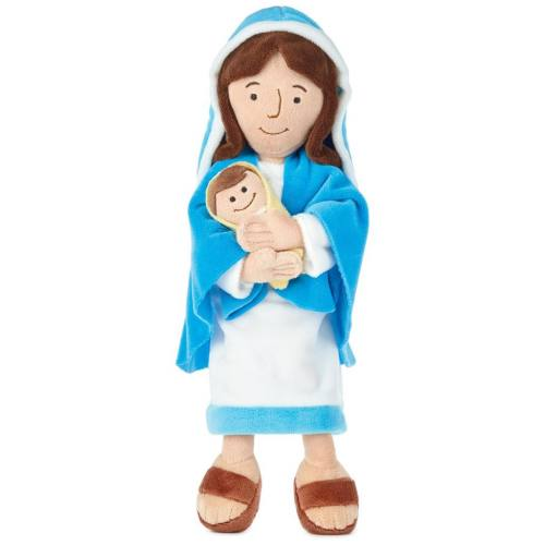 Mother Mary and Baby Jesus Plush Doll