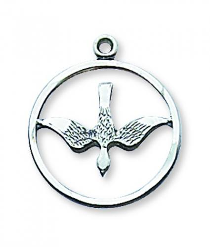 Pendant Dove Cut 3/4 inch Sterling Silver