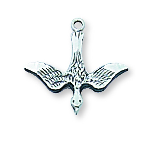 Pendant Dove Holy Spirit 1/2 inch Sterling Silver
