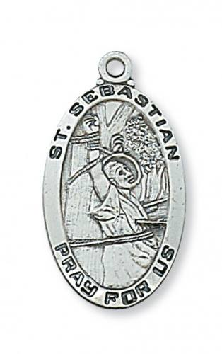 Sebastian saints by name shop by saint pope statue st saint medal st sebastian 1 inch sterling silver pendant aloadofball Images