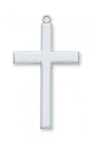 Cross Pendant Simple 1.5 inch Sterling Silver