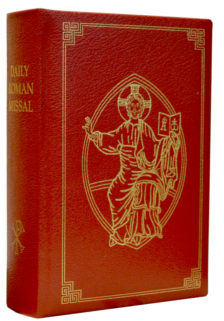 Daily Roman Missal Large Print Leather Red
