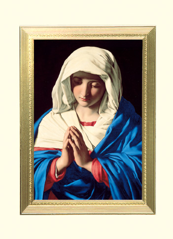 The Virgin In Prayer Mass Card Living 100 Count