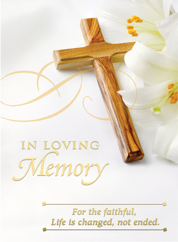 In Loving Memory Mass Card Deceased 100 Count