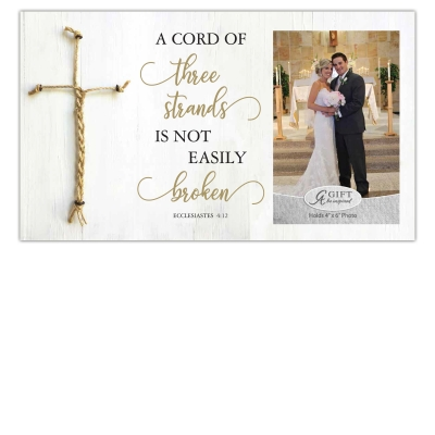 Frame Cord of Three With Rope Wedding 4 x 6