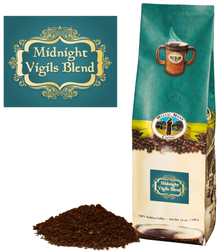 Mystic Monk Coffee Midnight Vigils Blend Ground Dark 12 oz.