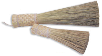 Holy Water Sprinkler Natural Corn Broom 14""