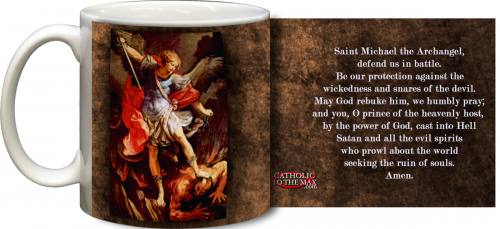 Mug St Michael Archangel Graphic Ceramic