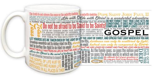 Mug St John Paul II Quote Ceramic
