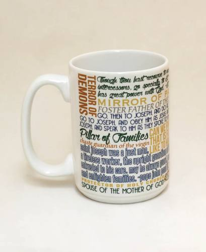 Mug St Joseph Quote Ceramic