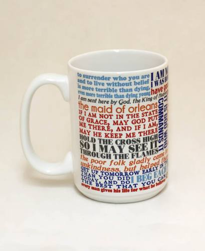 Mug St Joan of Arc Quote Ceramic