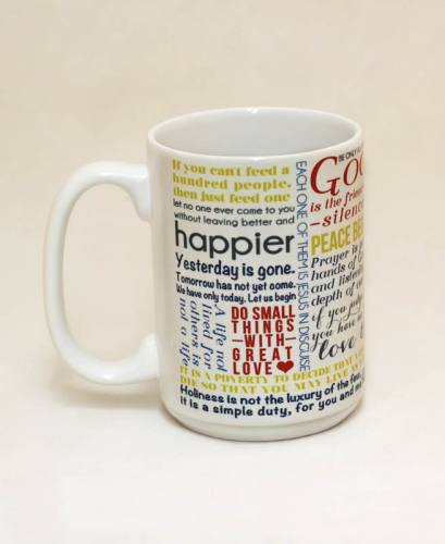 Mug St Mother Teresa Quote Ceramic