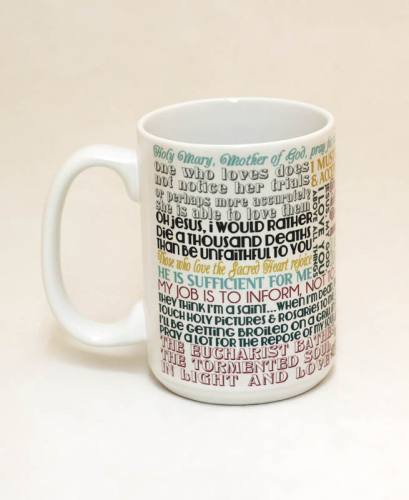Mug St Bernadette Quote Ceramic
