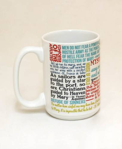 Mug Mary Mother of God Quote Ceramic