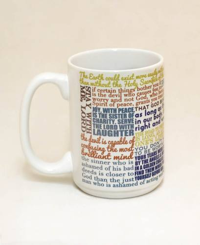 Mug St Padre Pio Quote Ceramic