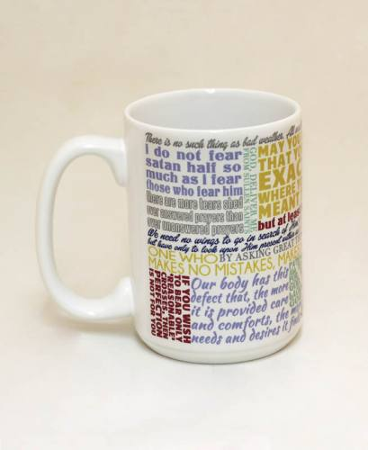 Mug St Teresa Avila Quote Ceramic