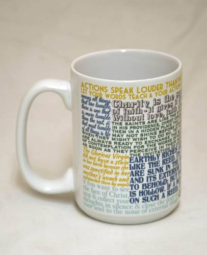 Mug St Anthony Padua Quote Ceramic