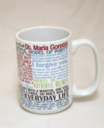 Mug St Maria Goretti Quote Ceramic