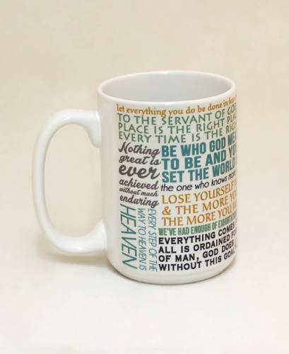 Mug St Catherine Siena Quote Ceramic