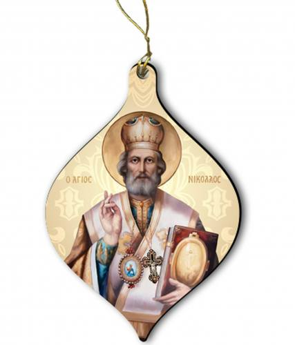 Ornament Saint Nicholas Wood 2 inches