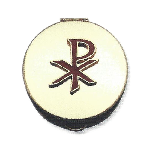Pyx Chi-Rho Enameled Plated Brass Small