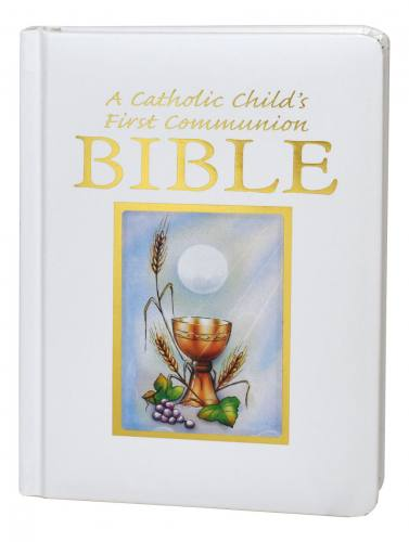 A Catholic Child's First Communion Bible Sacramental