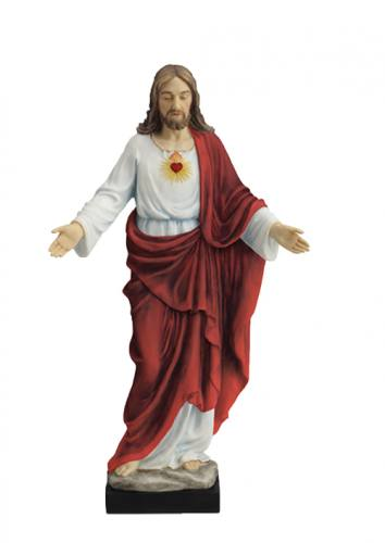 Statue Sacred Heart of Jesus 10 inch Resin Hand Painted