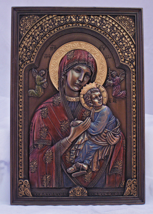 Plaque Our Lady of Perpetual Help 6 x 9 Bronze Resin