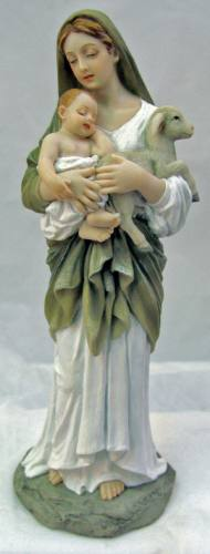 Statue Mary L'Innocence 8 inch Resin Hand Painted