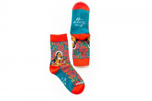 Sock Religious Therese of Lisieux Socks Kids Cotton Nylon Spande