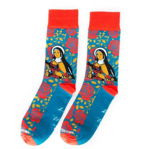 Sock Religious Saint Therese of Lisieux Socks Adult Cotton Nylon