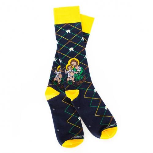 Sock Religious Saint Joseph Socks Adult Cotton Nylon Spandex