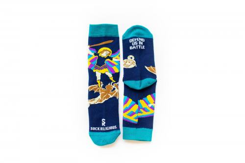 Sock Religious Saint Michael the Archangel Socks Kids Cotton Nyl