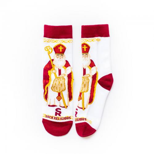 Sock Religious Saint Nicholas Socks Kids Cotton Nylon Spandex