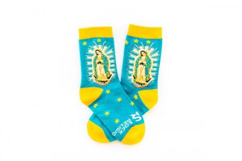 Sock Religious Our Lady of Guadalupe Socks Kids Cotton Nylon Spa
