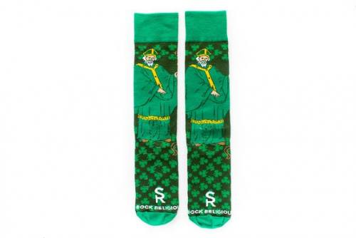 Sock Religious Saint Patrick Socks Adult Cotton Nylon Spandex