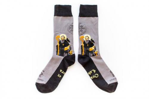 Sock Religious Saint Benedict Socks Adult Cotton Nylon Spandex