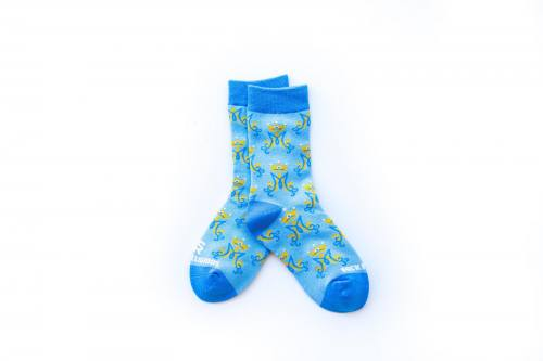 Sock Religious Marian Monogram Socks Kids Cotton Nylon Spandex
