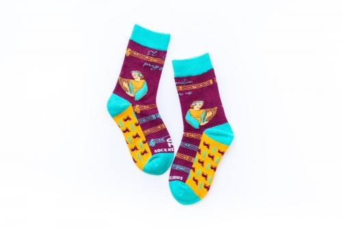 Sock Religious Saint Cecilia Socks Kids Cotton Nylon Spandex