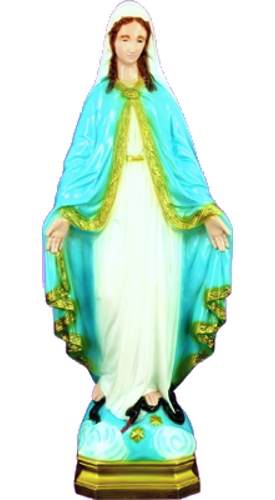 Garden Statue Mary Our Lady Grace 24 inch Outdoor Vinyl