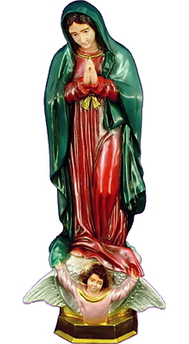 Garden Statue Mary Our Lady Guadalupe 24 inch Outdoor Vinyl