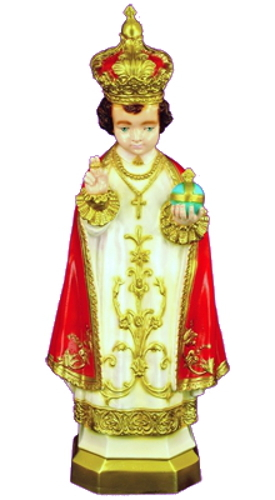 Garden Statue Jesus Infant Child Prague 24 inch Outdoor Vinyl
