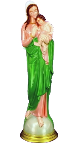 Garden Statue Mary Madonna & Child 24 inch Outdoor Vinyl