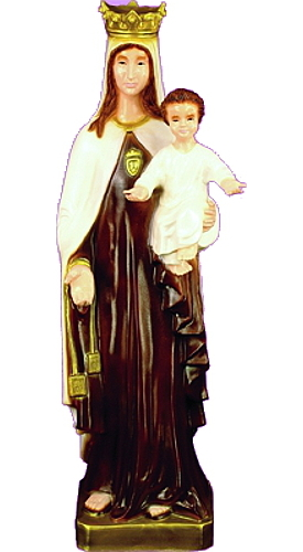 Garden Statue Mary Our Lady Mt Carmel 24 inch Outdoor Vinyl